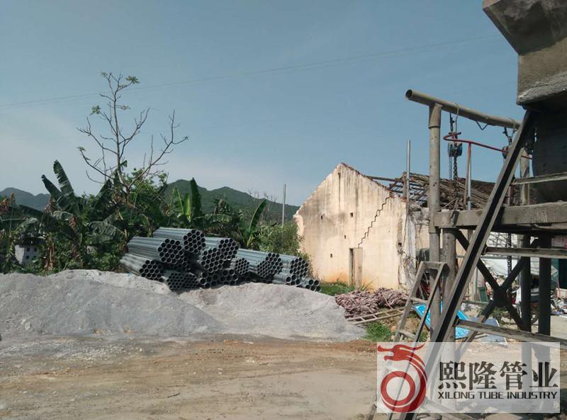 广西熙隆管业有限公司热镀锌钢管抵达东兰工地