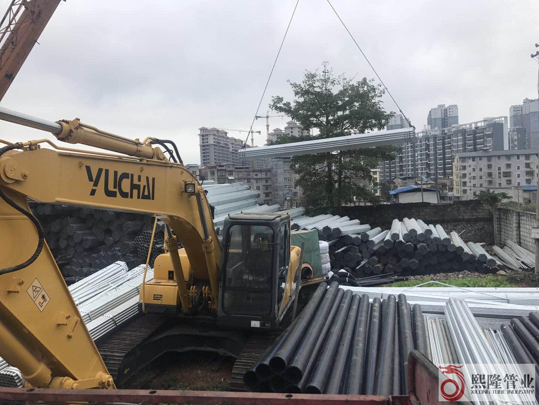 广西百热镀锌钢管百色水利项目顺利供货